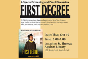 St. Thomas Aquinas College to Host a Screening of First Degree